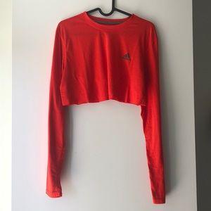 Adidas DIY Crop Neon Orange Long Sleeve